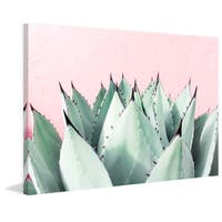 Marmont Hill - 'Sweet Succulents' by Morgan J Hartley Painting Print on Wrapped Canvas - Multi-color