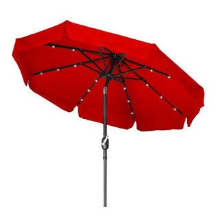 Trademark Innovations Steel/Polyester Deluxe Solar-powered LED Lighted Patio Umbrella