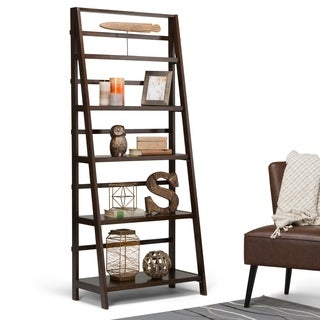 WYNDENHALL Normandy Bookcase in Tobacco Brown