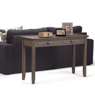 Link to WYNDENHALL Stratford SOLID WOOD 46 inch Wide Contemporary Console Sofa Table - 45.9 Inches wide - 45.9 Inches wide Similar Items in Living Room Furniture
