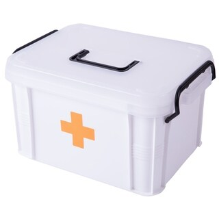 Small First Aid Medical Container - White