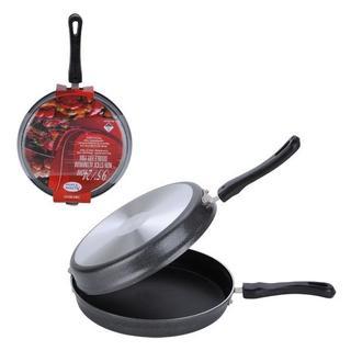 9.5-inch Aluminum Non-stick Double Fry Pan