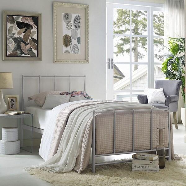 Taylor & Olive Fitchville Estate Grey Steel Platform Bed