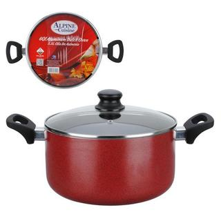 Alpine Cuisine Red Aluminum 4-quart Nonstick Dutch Oven