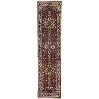 ecarpetgallery Hand-Knotted Royal Heriz Red Wool Runner Rug (2'5 x 11'5)