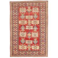 ecarpetgallery Hand-Knotted Finest Gazni Brown Wool Rug (5'11 x 8'6)