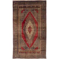 ecarpetgallery Hand-Knotted Anatolian Vintage Red Wool Rug (5'2 x 9'1)