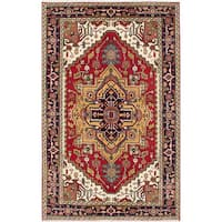 ecarpetgallery Hand-Knotted Serapi Heritage Red Wool Rug (5'0 x 7'11)
