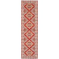 ecarpetgallery Hand-Knotted Royal Kazak Brown, Ivory Wool Rug (2'10 x 9'10)