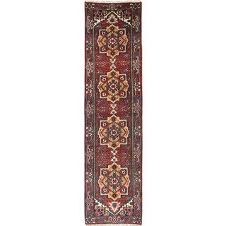 ecarpetgallery Hand-Knotted Serapi Heritage Red Wool Rug (2'6 x 10'0)