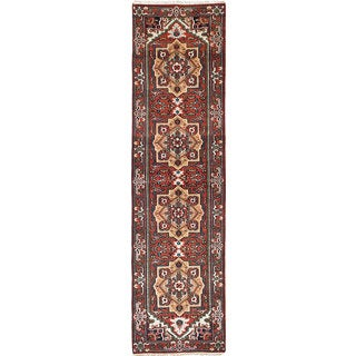 ecarpetgallery Hand-Knotted Serapi Heritage Red Wool Rug (2'7 x 10'0)
