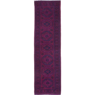 ecarpetgallery Hand-Knotted Color Transition Purple, Red Wool Rug (2'8 x 9'9)