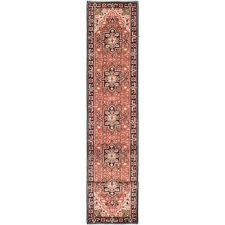 ecarpetgallery Hand-Knotted Royal Heriz Brown Wool Rug (2'7 x 16'0)
