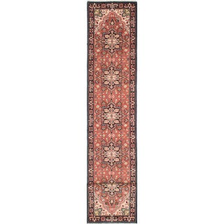 ecarpetgallery Hand-Knotted Royal Heriz Brown Wool Rug (2'7 x 16'1)