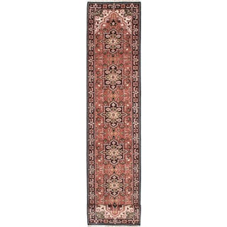 ecarpetgallery Hand-Knotted Royal Heriz Brown Wool Rug (2'8 x 19'9)