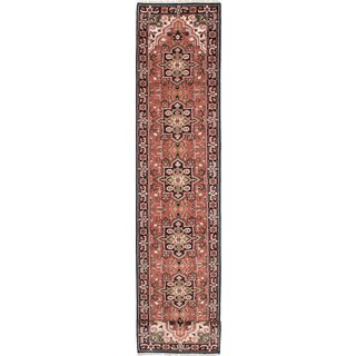 ecarpetgallery Hand-Knotted Royal Heriz Brown Wool Rug (2'8 x 19'9)