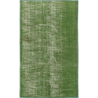 ecarpetgallery Hand-Knotted Color Transition Green Wool Rug (4'6 x 7'9)