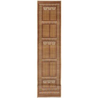 ecarpetgallery Hand-Knotted Peshawar Bokhara Orange Wool Rug (2'9 x 14'10)