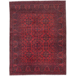 ecarpetgallery Hand-Knotted Finest Khal Mohammadi Red Wool Rug (5'0 x 6'6)