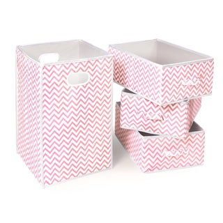 Badger Basket Folding Hamper and 3 Basket Set