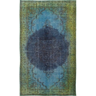 ecarpetgallery Hand-Knotted Color Transition Blue Wool Rug (5'4 x 9'4)