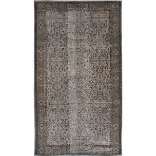 ecarpetgallery Hand-Knotted Color Transition Grey Wool Rug (5'6 x 9'10)