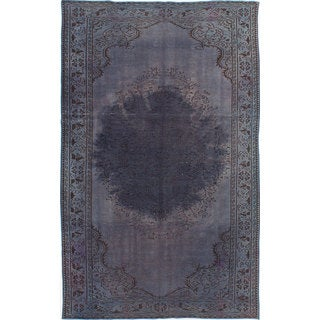 ecarpetgallery Hand-Knotted Color Transition Grey Wool Rug (5'9 x 9'5)