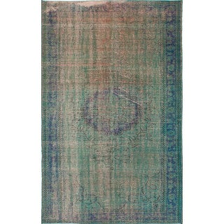 ecarpetgallery Hand-Knotted Color Transition Green Wool Rug (5'7 x 9'2)