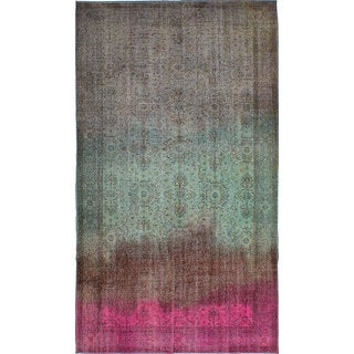 ecarpetgallery Hand-Knotted Color Transition Green, Grey Wool Rug (5'6 x 9'9)