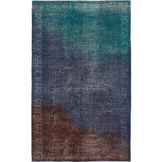 ecarpetgallery Hand-Knotted Color Transition Blue, Green Wool Rug (5'11 x 9'9)