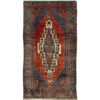 ecarpetgallery Hand-Knotted Anatolian Vintage Red Wool Rug (5'6 x 9'11)