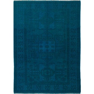 ecarpetgallery Hand-Knotted Color Transition Green Wool Rug (6'9 x 9'4)