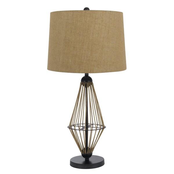Monticello Tan Metal and Resin 150-watt Table Lamp