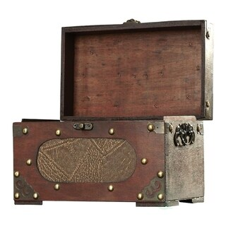Brown Wooden Antique Recipe Card Box