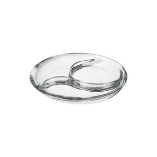 Majestic Gifts Clear Quality Glass 3-section 11-inch Deep Relish Dish