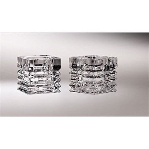 Majestic Gifts Crystal Tealight Holders (Set of 2)