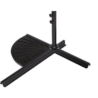Trademark Innovations Black Resin Outdoor Umbrella Base