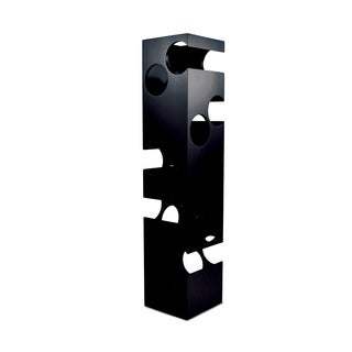 Puzzled Epic Black Contemporary 10-bottle Wine Rack