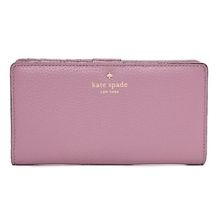 Kate Spade Cobble Hill Stacy Feather Rum Raisin Wallet