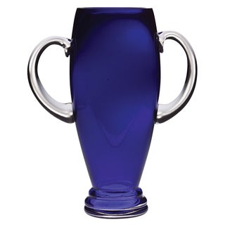 Majestic Gifts Quality Cobalt Glass 10-inch Trophy with Handles