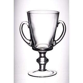 Majestic Gifts 12-inch H Glass Trophy with Handles