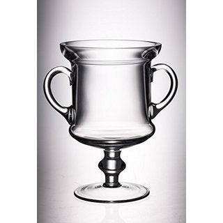 Majestic Gifts Quality Clear Glass 11.75-inch High Trophy with Handles