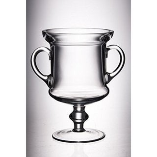 Majestic Gifts Quality Clear Glass 10-inch High Trophy with Handles