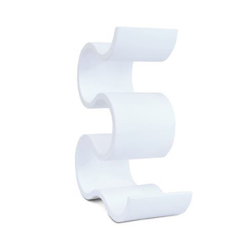 Puzzled White Wood Contemporary 5-bottle Infinity Wine Rack