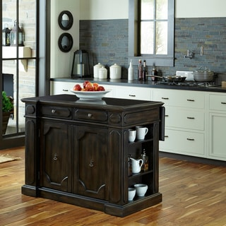 Home Styles Hacienda Wood Top Kitchen Island