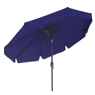 Tilt Crank Patio Umbrella with Scalloped Edge - 9 Feet - by Trademark Innovations