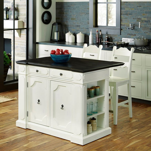 Fiesta Wood Top Kitchen Island with 2 Stools by Home Styles