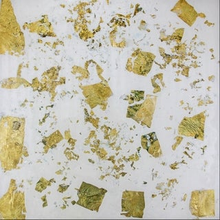 Art In Style Confetti Gold Reverse Painted Lucite Art
