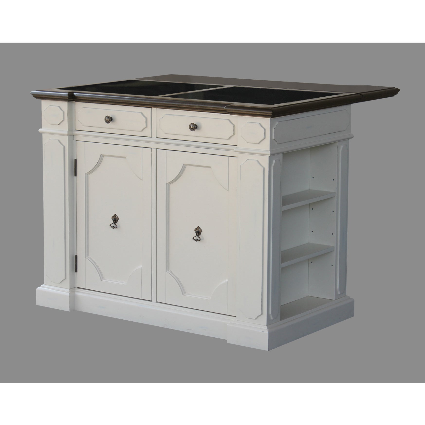 Maison Rouge Bernard Granite Inset Top Kitchen Island
