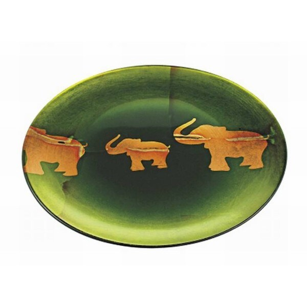 Majestic Gifts Green Glass 14.6-inch Plate